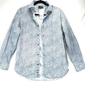 New 1670 Navy White Button Down Long Sleeve